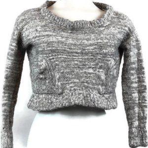 Free People L/S Cropped Sweater w/wool/alpaca